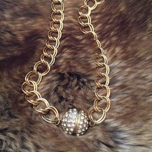 Rhinestone Ball Necklace